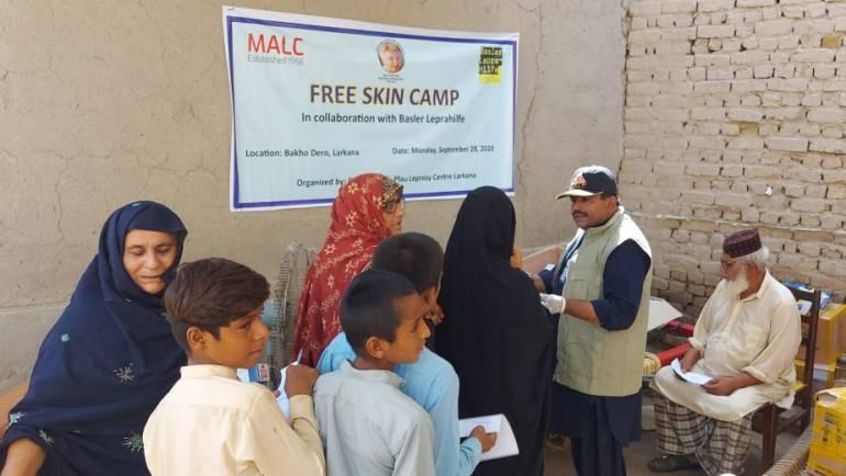 Skin Camp in  Bakho Dero, Larkana in collaboration with Basler Leprahilfe, Switzerland