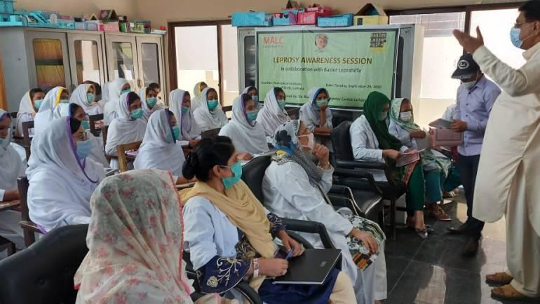 Leprosy Awareness Session at Regional Training Institute, Population Welfare Dept., Larkana, in collaboration with Basler Leprahilfe, Switzerland