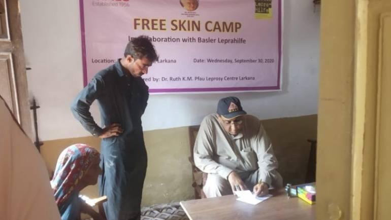 Skin Camp in Patoja Shakh, Shahdadkot in collaboration with Basler Leprahilfe, Switzerland