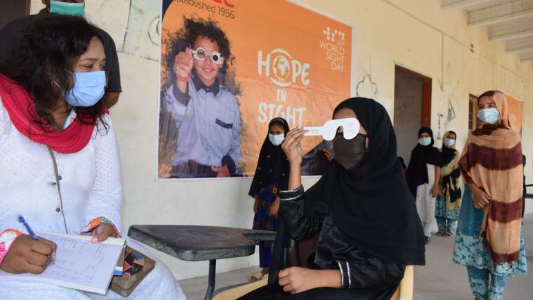 World Sight Day celebration at Babu Pittani Goth, Karachi