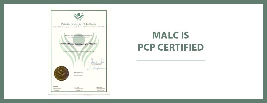 MALC receives Pakistan Centre for Philanthropy (PCP) Certification