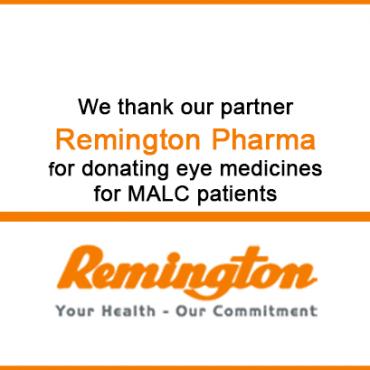 Remington Pharma donates eye medicines