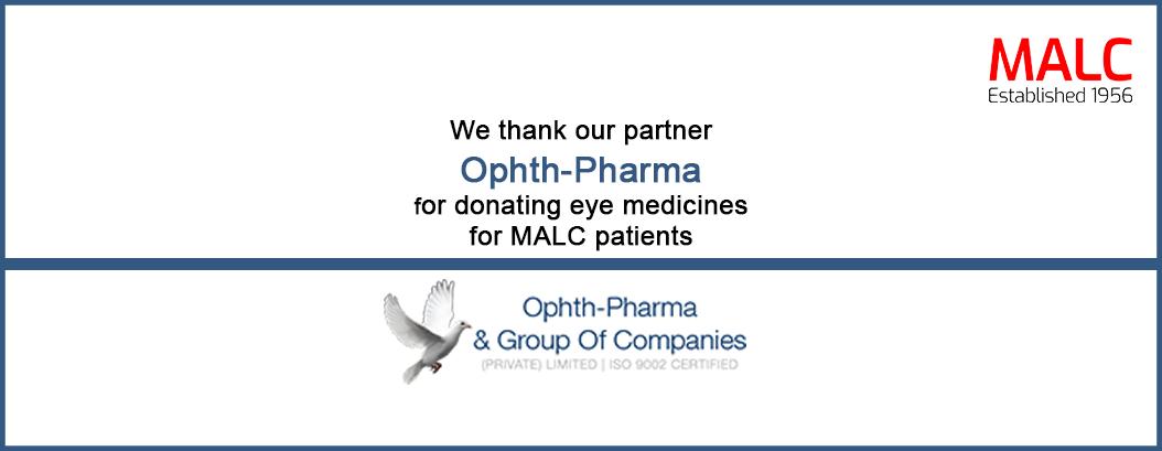 Ophth-Pharma donates eye medicines