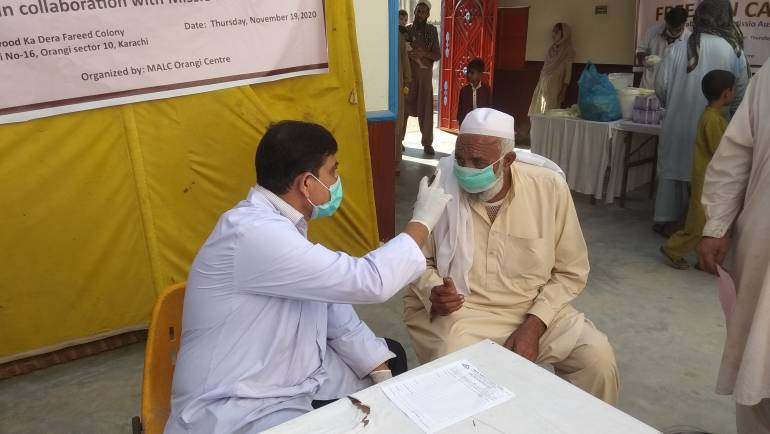 Skin Camp in Orangi with the kind support of Missio Austria
